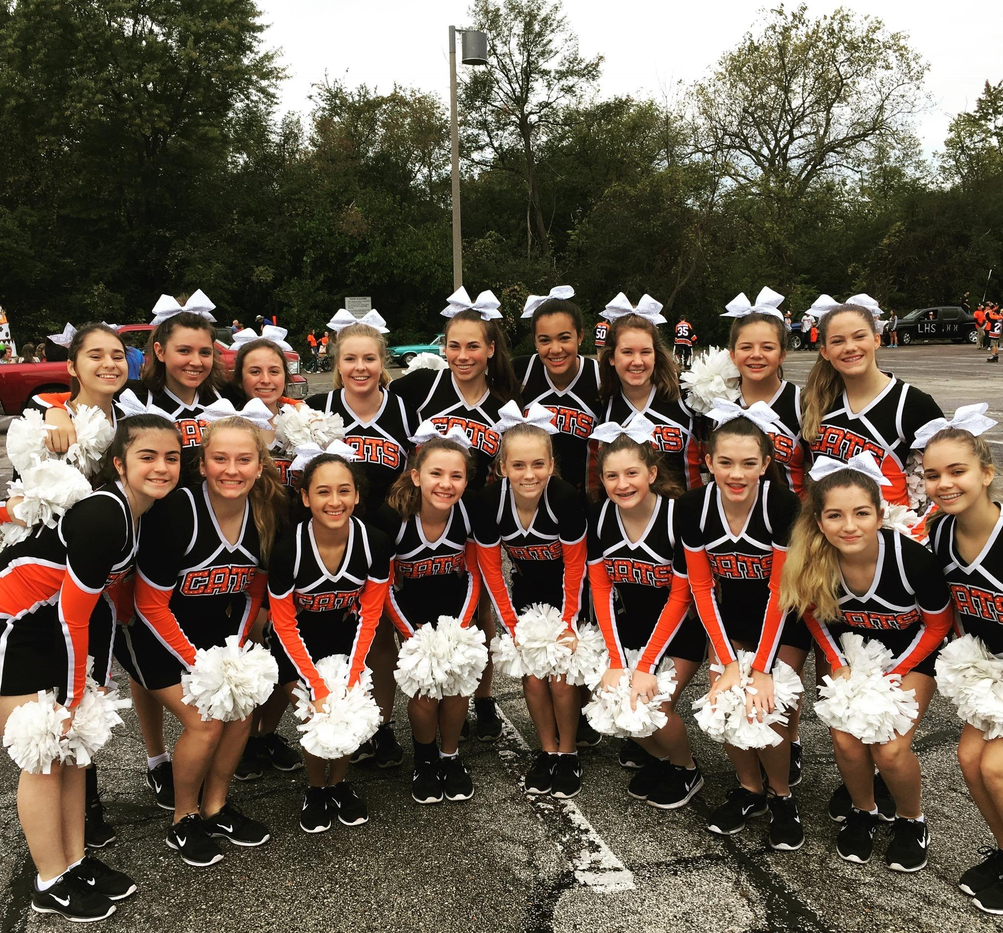 JV team photo before marching in parade