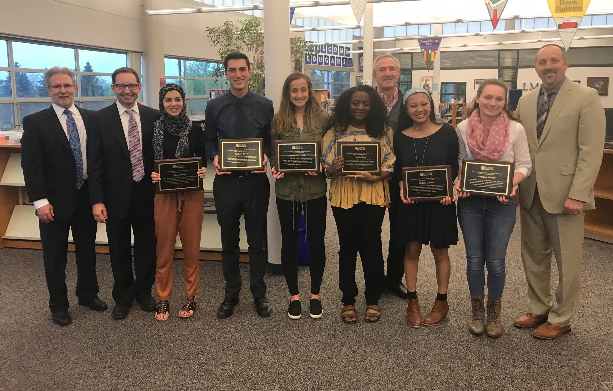 The Board of Education recognizes the 2017-18 Student Board Representatives.