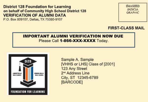 Foundation for Learning Sponsors First D128 Alumni Directory