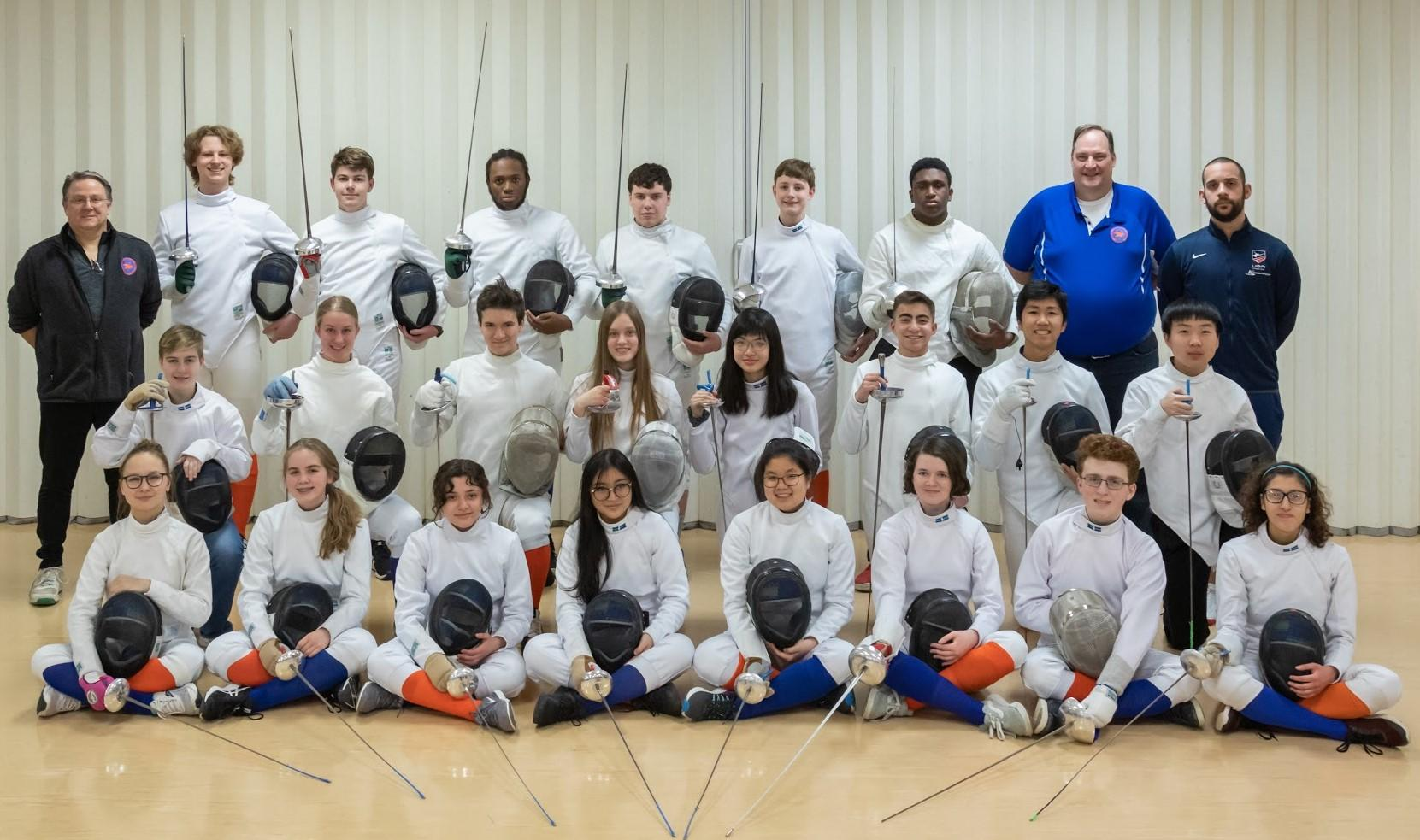 Fencing Team Photo - 2020
