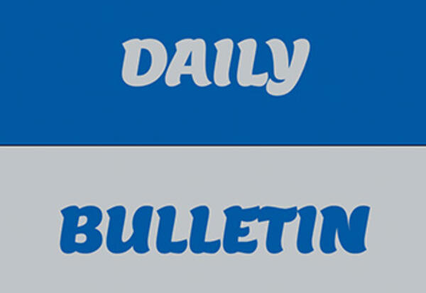 daily bulletin displayed graphically