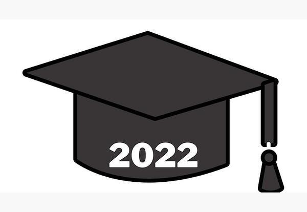 graduation cap with 2022
