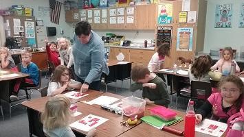 Students enjoyed Bingo Night at Warrens Elementary
