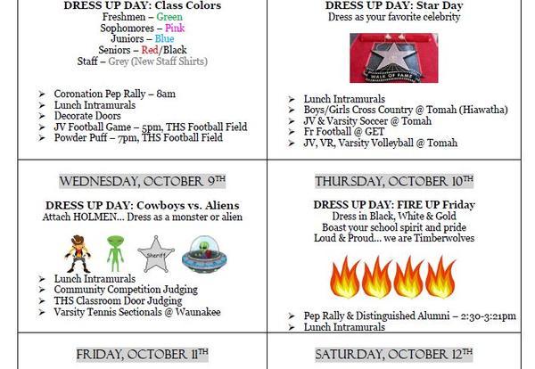 Homecoming Week October 7-12