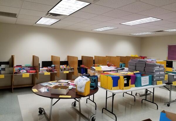 Tomah Lions, Lioness, and Edward Jones Donate School Supplies