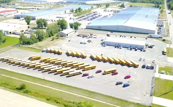 Tomah Transportation Center, aerial view