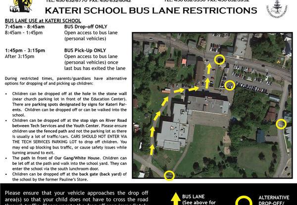 Safety Concerns regarding parking at Kateri School