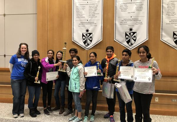 Butler Math Teams take First Place