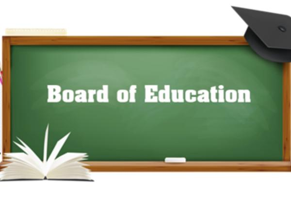 Board of Education on Chalk Board