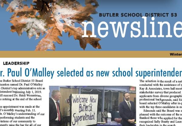 Newsletter features stories on new superintendent, innovations in technology and others