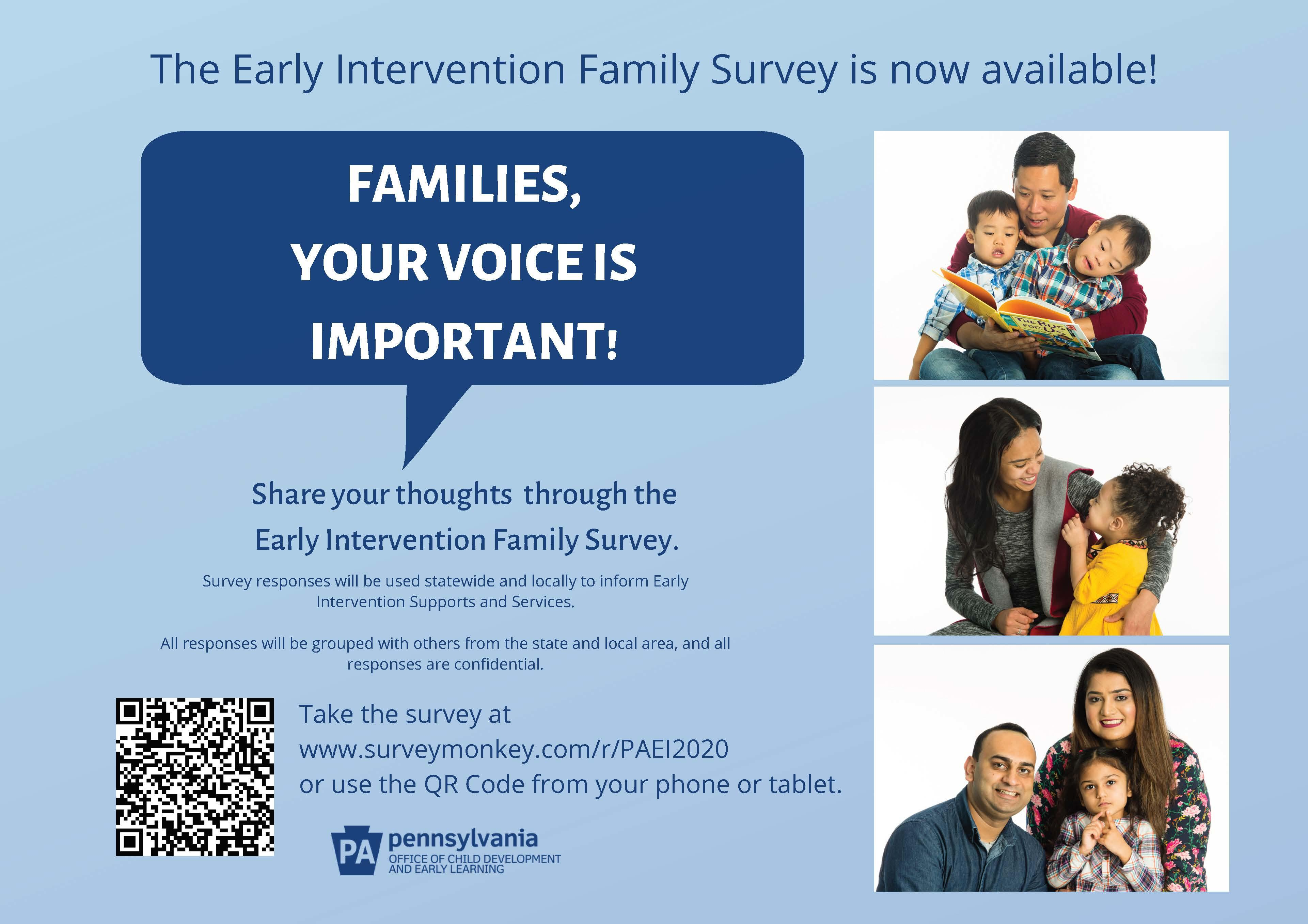 Families, Your Voice Is Important . . . Take the Survey!