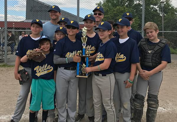 SCORE! 5th/6th Grade Boys Baseball Champions!