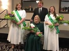 Miss Smiling Irish Eyes poses with her court