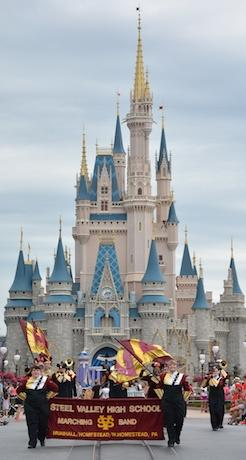 Shot of the Magic Kingdom castle