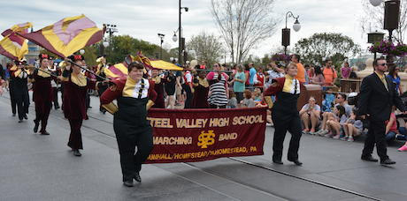 Steel Valley marching band in Disney parade