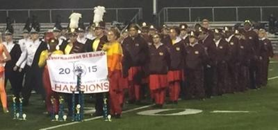 "Marching Band took first place ""Open Class Champions"""
