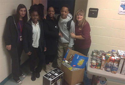 Holiday Food Drive at the Middle School