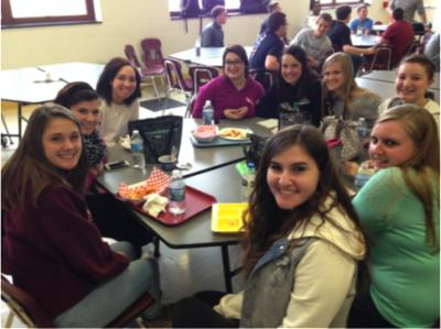 Steel Valley, Sophomore, Jordan Ulicny joins Chartiers-Houston girls at Lunch