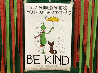 Grinch kindness sign