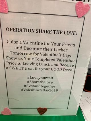 Sign for Operation Share the Love