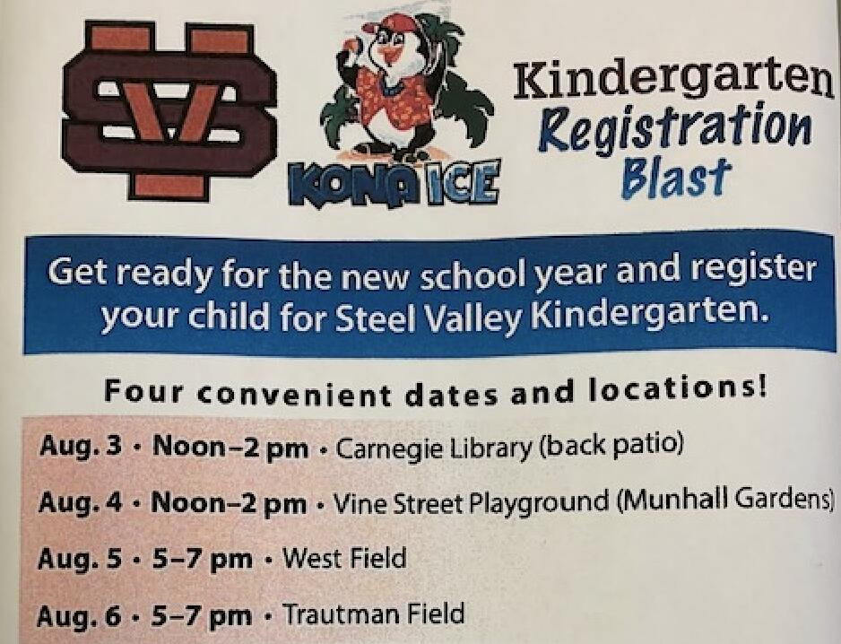 Kindergarten Registration Blast