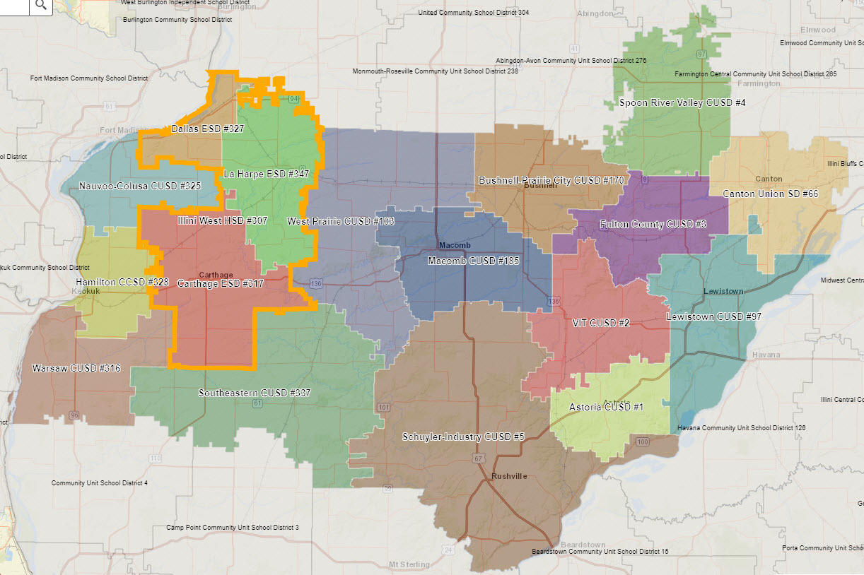 ROE26 School District Boundary Map
