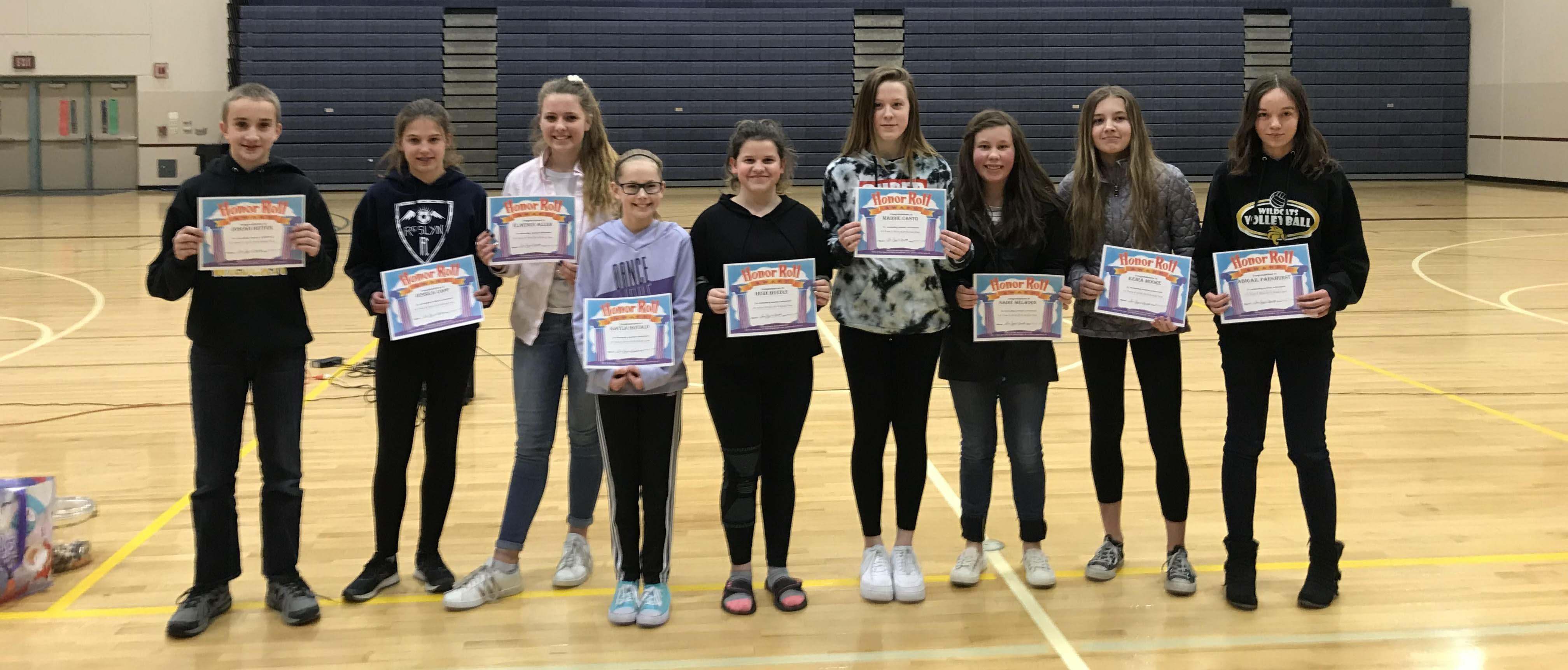 2019 Semester 1 Honor Roll students
