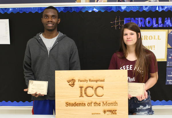 ICC recognizes Jones, Adkins, Gloria, Houston as students of the month