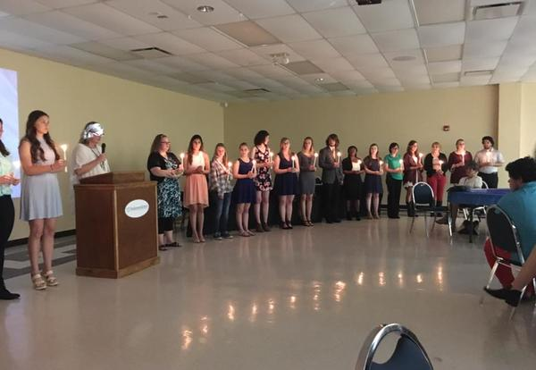 PTK inducts over 60 new students into honor society
