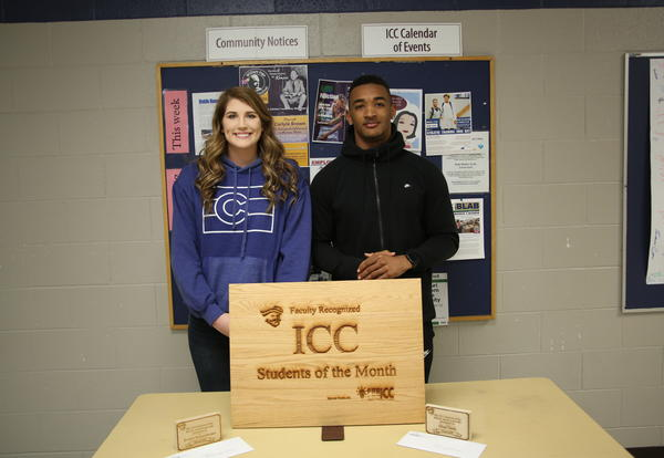 ICC names Schoenberger, Davis Students of the Month