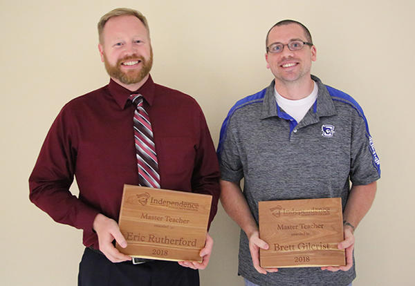 Gilcrist, Rutherford named Master Teachers at ICC service awards