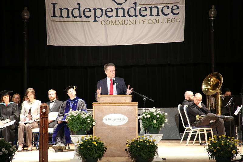 Governor Colyer addresses graduates during commencement 2018