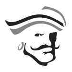 Pirate Logo (Black and White)