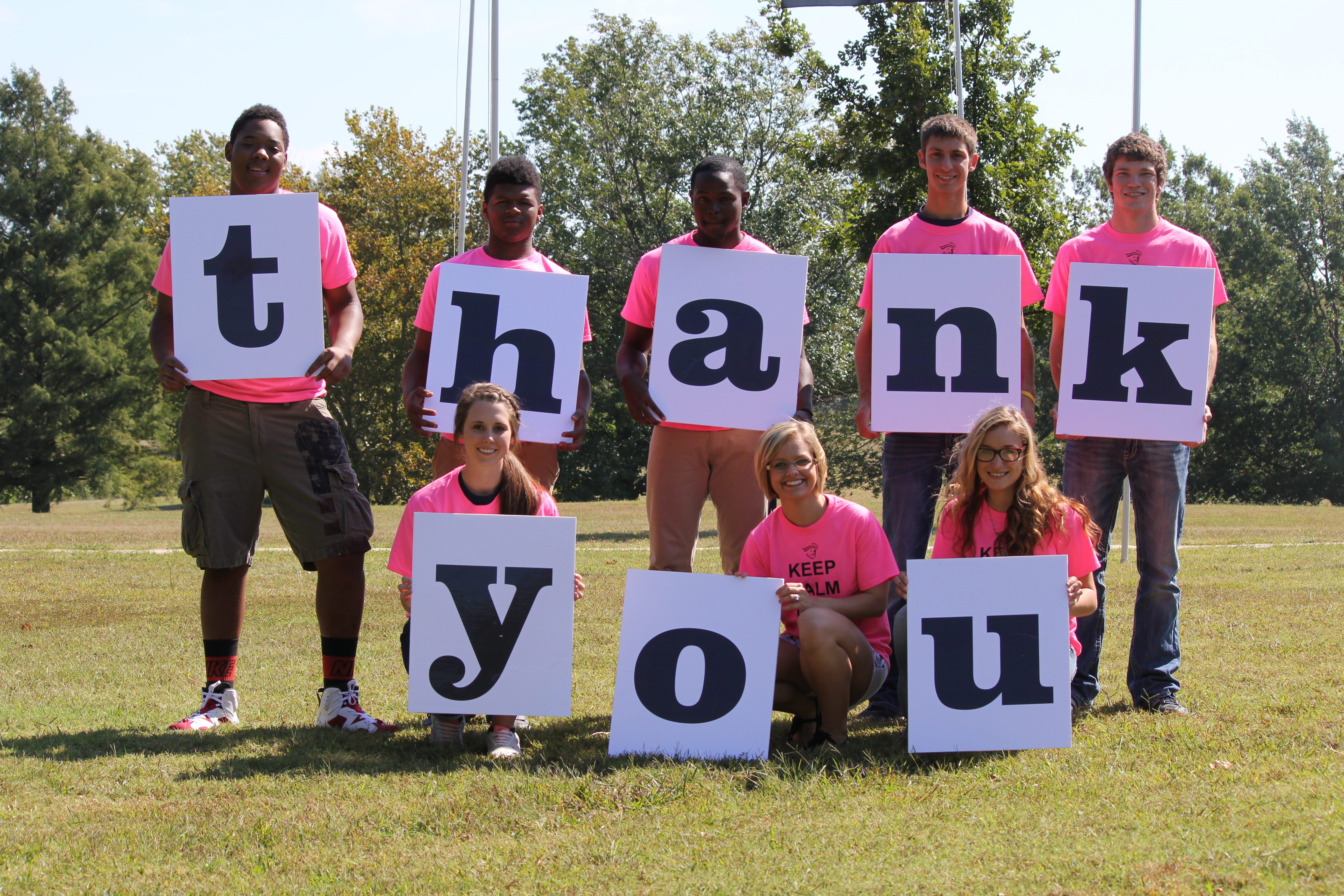 ICC Students saying thank you