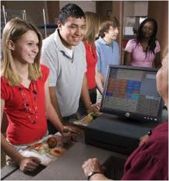 Students on the cashier picture