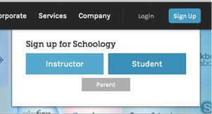 schoology parent page