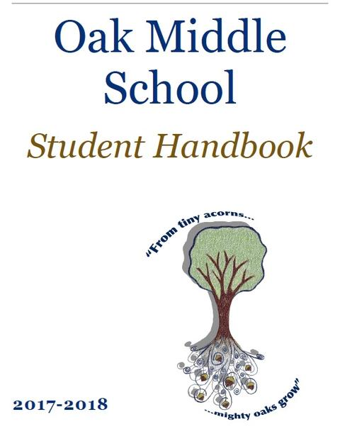 OMS Student Handbook 2017-2018 cover
