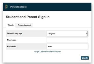 Powerschool Portal Login Screen
