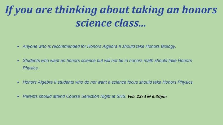 honors science
