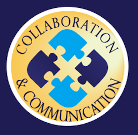 Portrait of a Graduate logo for Collaboration and Communication