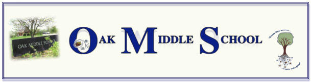 Oak Middle School Banner