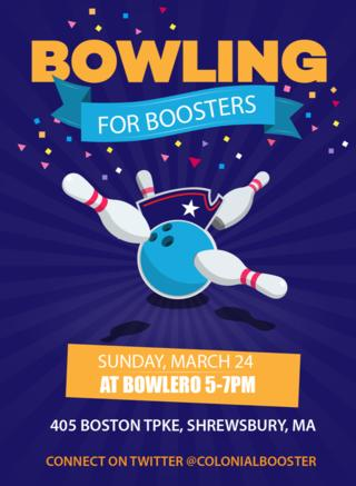 Bowling for Boosters Poster 2019