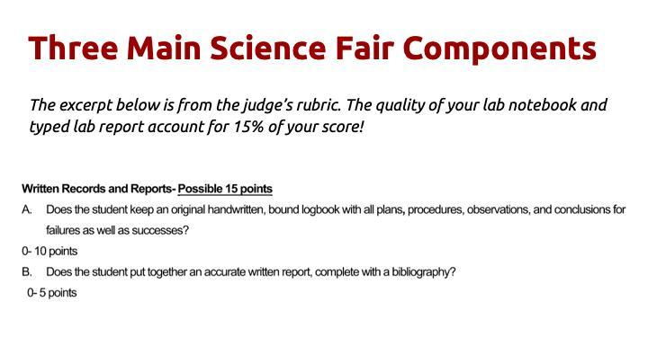 Science Fair Club Oak Middle School