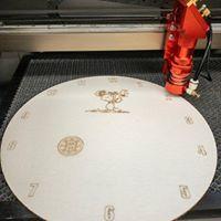 A laser-cut clock at Shrewsbury