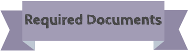 "A purple banner with the text ""Required Documents"""