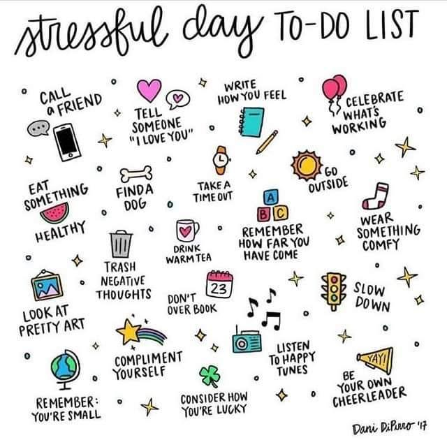 A stressful day to-do list