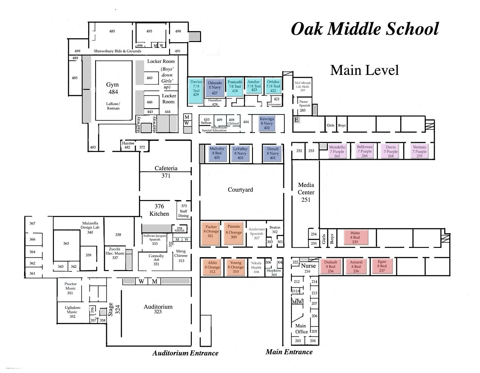 OMS Room Map Main Floor