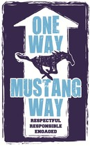 One Way Mustang Way Logo
