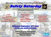 Safety Saturday and the DuPage County Convalescent Center's 50th Annual Fall Festival flyer