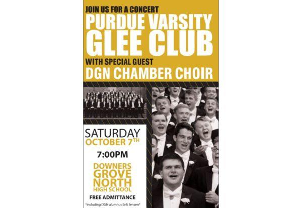 Free Purdue Men's Varsity Glee Club Concert at DGN on Saturday, October 7